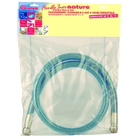 FLEXIBLE GAZ NATUREL INOX DUREE D'EMPLOI ILLIMITE LONG. 1 METRE