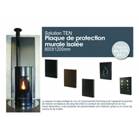 PLAQUE DE PROTECTION MURALE ISOLEE NOIR 800 X 1000 MM