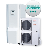 PAC AIR/EAU ATLANTIC TYPE ALFEA HYBRID DUO FIOUL 11 KW TRI AVEC ECS